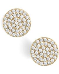Nadri | 'geo' Stud Earrings | Lyst