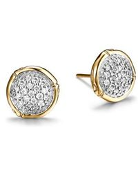 John Hardy - Bamboo Diamond & 18k Gold Stud Earrings - Lyst