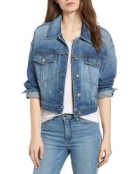 7 For All Mankind - 7 For All Mankind Bubble Denim Jacket - Lyst