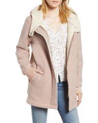BCBGeneration - Cozy Wool & Fleece Coat - Lyst