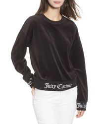 Juicy Couture - Logo Graphic Velour Pullover - Lyst