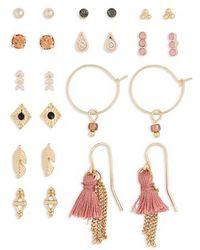 TOPSHOP   Set Of 12 Stud & Drop Earrings   Lyst