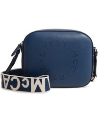 Stella McCartney - Mini Perforated Logo Alter Nappa Faux Leather Camera Bag - Lyst