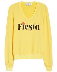 Wildfox - Fiesta V-neck Baggy Beach Pullover - Lyst