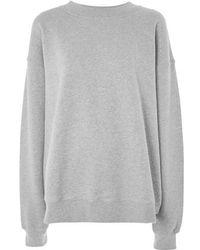 TOPSHOP - Oversize Sweatshirt - Lyst