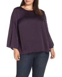 Vince Camuto - Button Bell Sleeve Blouse - Lyst