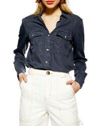 TOPSHOP Kate Utility Shirt