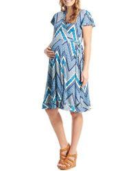 Everly Grey | 'kathy' Maternity/nursing Wrap Dress | Lyst
