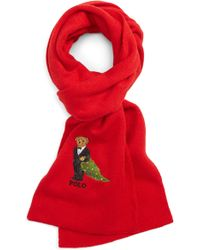 Polo Ralph Lauren - Embroidered Christmas Tree Bear Scarf - Lyst