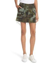 Nili Lotan - Ilona Camouflage Miniskirt - Lyst