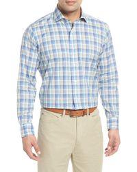 Peter Millar - Saronic Regular Fit Melange Check Sport Shirt - Lyst