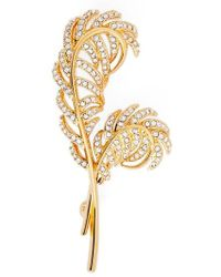 Nadri | Pave Double Feather Pin | Lyst