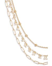 Ela Rae - Multistrand Collar Necklace - Lyst