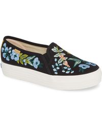 Keds - Keds X Rifle Paper Co. Triple Decker Embroidered Slip-on Sneaker - Lyst