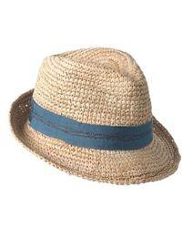 Lola Hats - Tarboush Azure Raffia Hat - Lyst