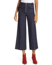 Cinq À Sept - Azure Crop Wide Leg Jeans - Lyst