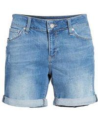 Mavi Jeans - Pixie Denim Boyfriend Shorts - Lyst