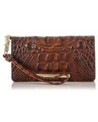 Brahmin - Debra Croc Embossed Leather Phone Wallet - Lyst