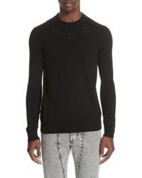 Givenchy - Tonal Star Wool Sweater - Lyst