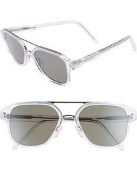 Cutler & Gross - 55mm Polarized Aviator Sunglasses - - Lyst