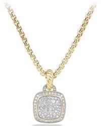 David Yurman - 'albion' Pendant With Diamonds In 18k Gold - Lyst