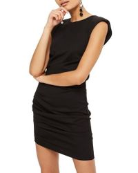 TOPSHOP - Shoulder Pad Body-con Minidress - Lyst