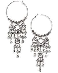 TOPSHOP - Hoop Chandelier Earrings - Lyst