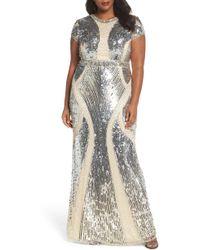 Mac Duggal - Jewel Neck Sequin Gown - Lyst