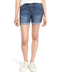1822 Denim - Roll Cuff Denim Shorts - Lyst