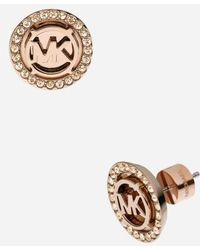 MICHAEL Michael Kors - Michael Kors Monogram Stud Earrings - Lyst