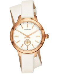 Tory Burch - Collins Wrap Leather Strap Watch - Lyst