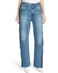 3x1 - Joy Side Snap Wide Leg Jeans - Lyst