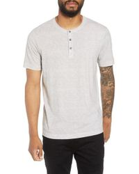 Theory - Essential Regular Fit Short Short Sleeve Henley - Lyst