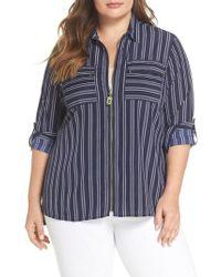 Kors by Michael Kors - Bengal Stripe Zip Shirt Jacket - Lyst