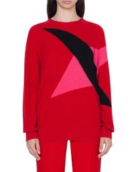 Akris - Double Diamond Intarsia Cashmere Sweater - Lyst
