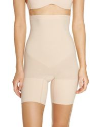 Spanx - Spanx Higher Power Mid-thigh Shaping Shorts - Lyst