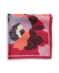 Bonobos - Floral Wool Pocket Square - Lyst