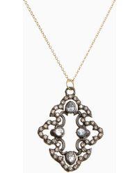 Armenta - Old World Diamond Scroll Pendant Necklace - Lyst