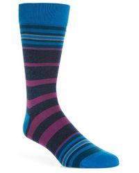 Bugatchi - Striped Socks - Lyst