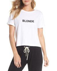 BRUNETTE the Label - Blonde Crop Tee - Lyst