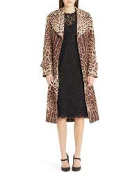 Dolce & Gabbana - Leopard Print Trench Coat - Lyst