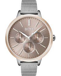BOSS - Symphony Mesh Strap Watch - Lyst