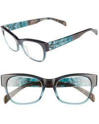 Corinne Mccormack - Marty 51mm Reading Glasses - Teal - Lyst