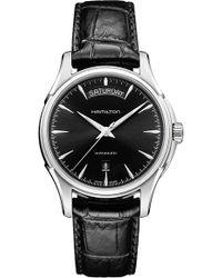 Hamilton - Jazzmaster Automatic Leather Strap Watch - Lyst