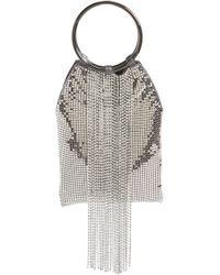 Whiting & Davis - Cascade Crystal Fringe Mesh Bracelet Bag - Lyst