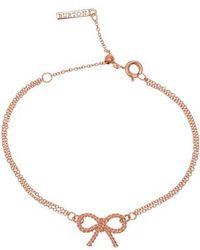 Olivia Burton - Vintage Bow Chain Bracelet - Lyst