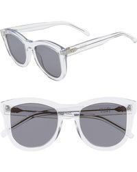 319ef212a8 Valley Eyewear - 50mm Trachea Retro Sunglasses - Crystal  Black - Lyst