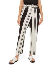 TOPSHOP - Dolly Stripe Tapered Trousers - Lyst