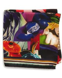 Paul Smith - Rose Collage Silk Pocket Square - Lyst