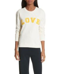 Tory Sport - Love Cotton Terry Sweatshirt - Lyst